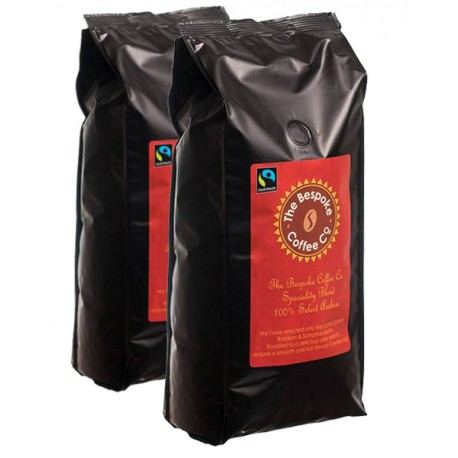 Bespoke Fairtrade Specialty Coffee Beans 2 x 1kg