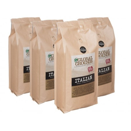 4kg UTZ Certified Coffee Beans - 4 x 1kg - Global Grounds Italian