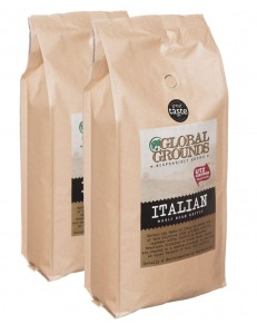 2kg UTZ Certified Coffee Beans - 2 x 1kg - Global Grounds Italian