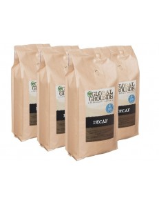 4kg Swiss Water Decaf Coffee Beans - 4 x 1kg bags - Global Grounds