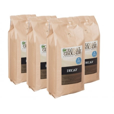 Swiss Water Decaf Coffee Beans 4 x 1kg - Global Grounds