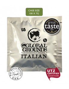 100 UTZ Certified ESE Coffee Pods - Global Grounds Italian