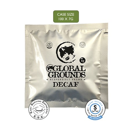 100 Swiss Water Decaf ESE Coffee Pods - Global Grounds