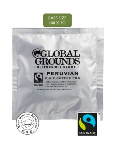 100 Fairtrade Peruvian ESE Coffee Pods Global Grounds