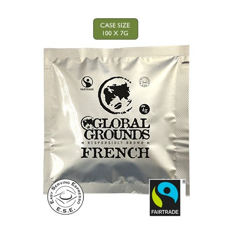 Fair Trade ESE Coffee Pods - French Roast Global Grounds