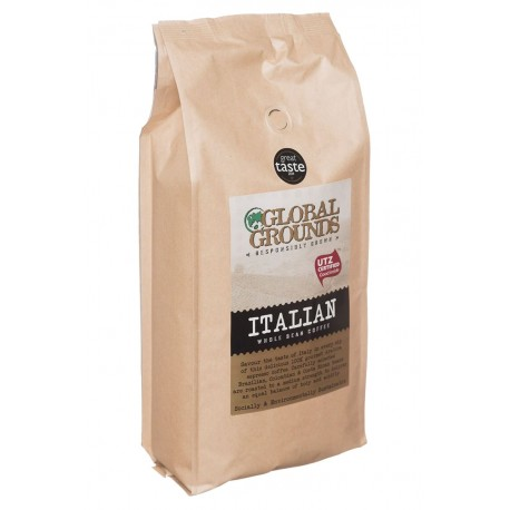 UTZ Certified Coffee Beans 1kg - Global Grounds Italian