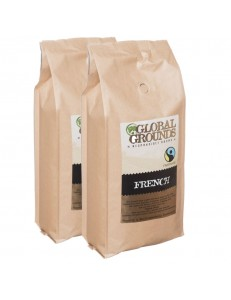 2kg Fair Trade Coffee Beans - 2 x 1kg - Global Grounds French Roast