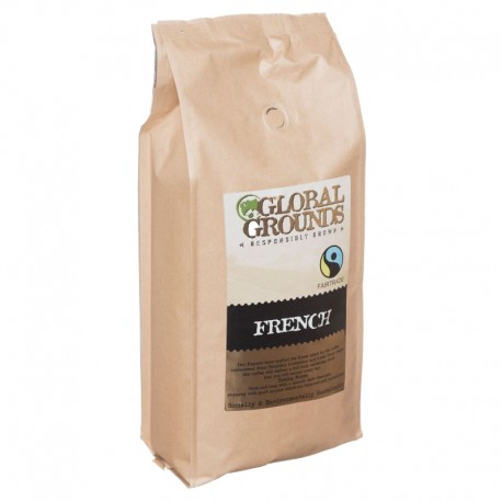 1kg Fair Trade Coffee Beans - Global Grounds French Roast