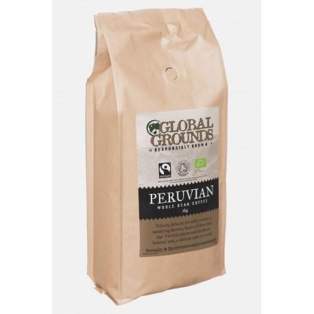 1kg Organic & Fairtrade Coffee Beans Soil Association - Standard Global Grounds Peruvian