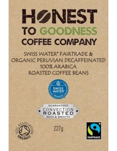 Swiss Water Decaffeinated Single Origin Peruvian Fairtrade & Organic Coffee Beans 4 x 227g