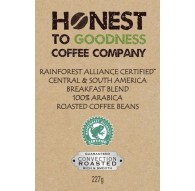 4 x 227g Rain Forest Alliance Certified Central & South America Breakfast Blend 100% Arabica Roasted Coffee Beans
