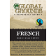100 Fair Trade ESE Coffee Pods - French Roast Global Grounds